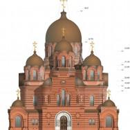 Цветовое решение фасада Св.Екатеринского собора